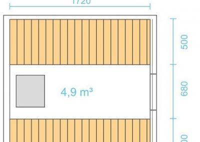 Sauna a botte 2m