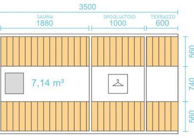 Sauna a botte 3,5m