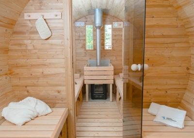 Sauna finlandese a botte
