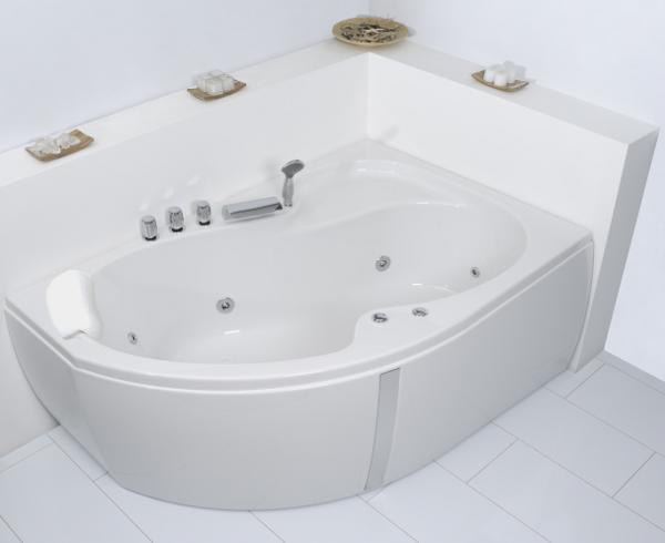 Corner Whirlpool Bath Unica