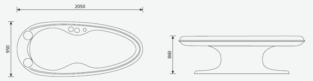 Dimensioni Lettino termale riscaldato Body Base