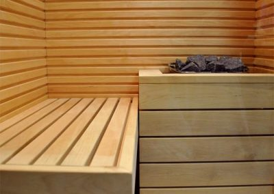 Sauna Aurora interno