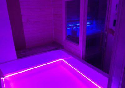 Sauna e vasca idromassaggio per privato in Trentino