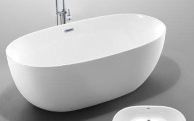 Vasca da bagno freestanding ovale