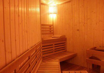 Interno sauna triangolare