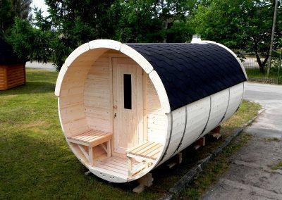 Sauna a botte con terrazzo