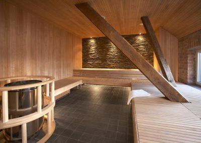 Interno sauna su misura
