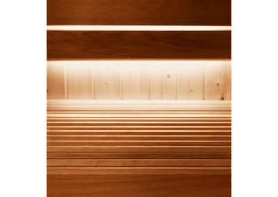 Sauna gamma Evolve particolare pannellatura