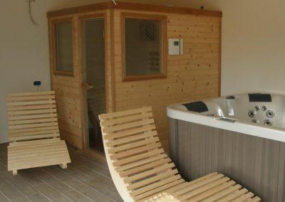 Sauna infrarossi montata