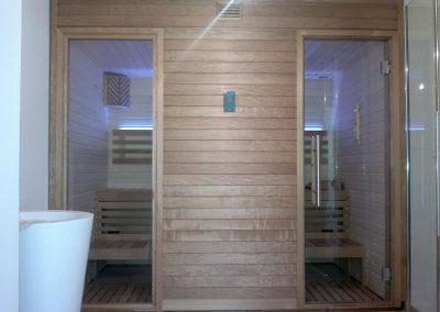 Sauna porta doppia
