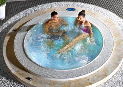 Round Recessed Hot Tub Mexico