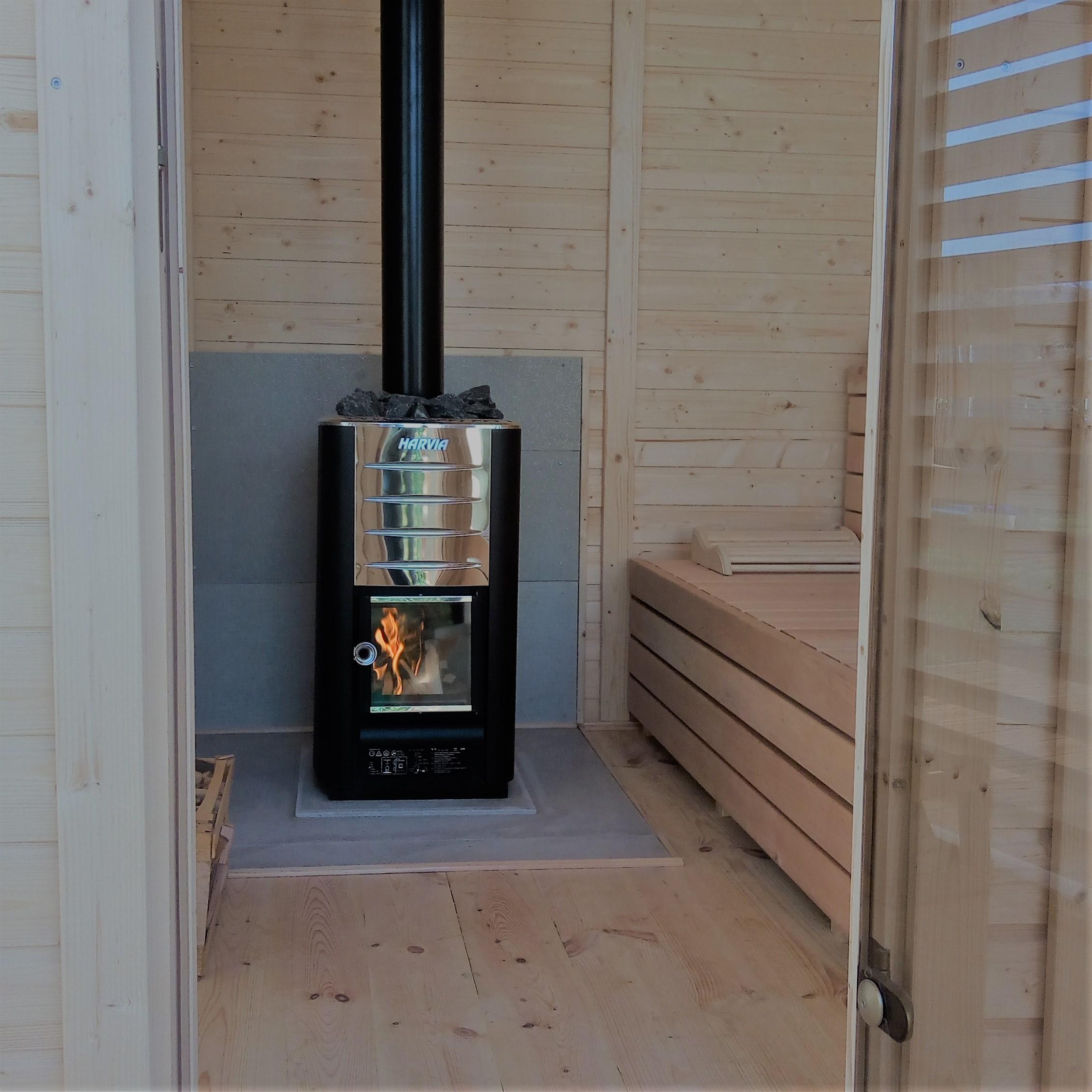 parete di sale sauna