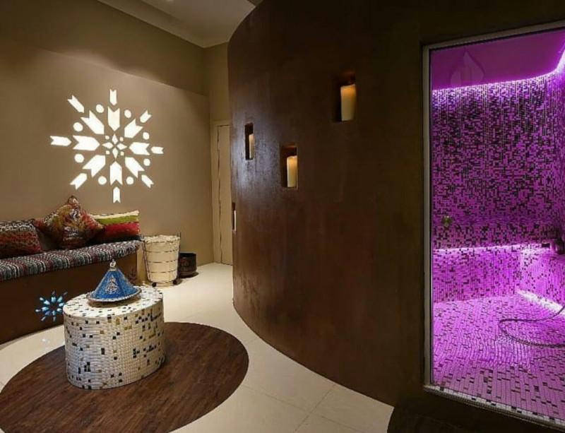 bagno turco sagomato mosaico