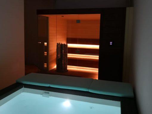 Sauna e vasca idromassaggio per privato a Dubai
