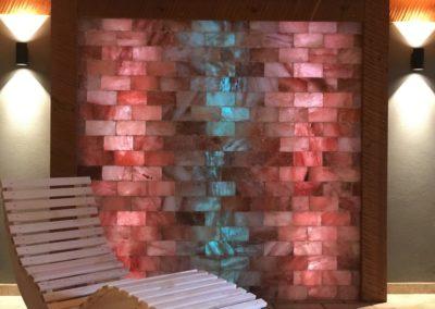 parete di mattoni di sale