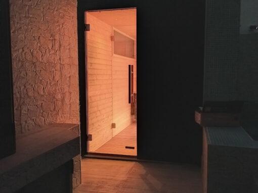 Sauna da esterno su terrazzo a Milano