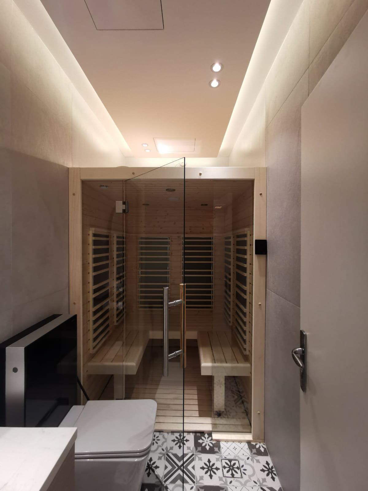 sauna infrarossi per bagno