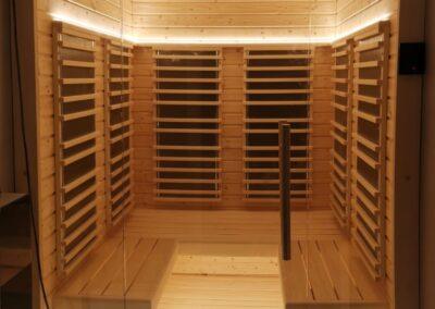 Sauna ad infrarossi con pannelli al carbonio