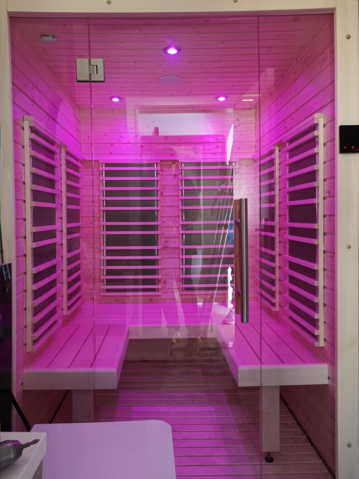 sauna ad infrarossi per bagno