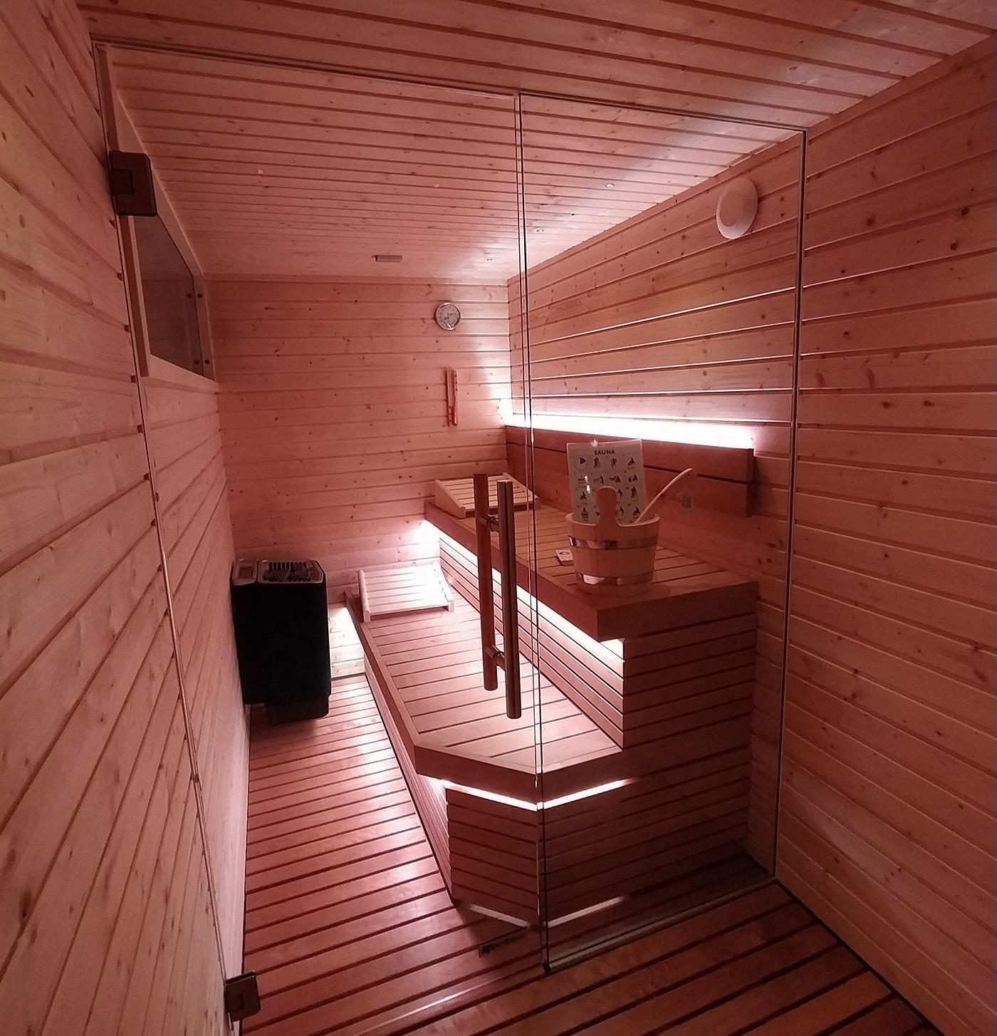 sauna terrazzo