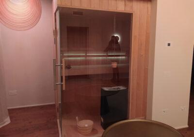 Sauna per villa sui colli Euganei