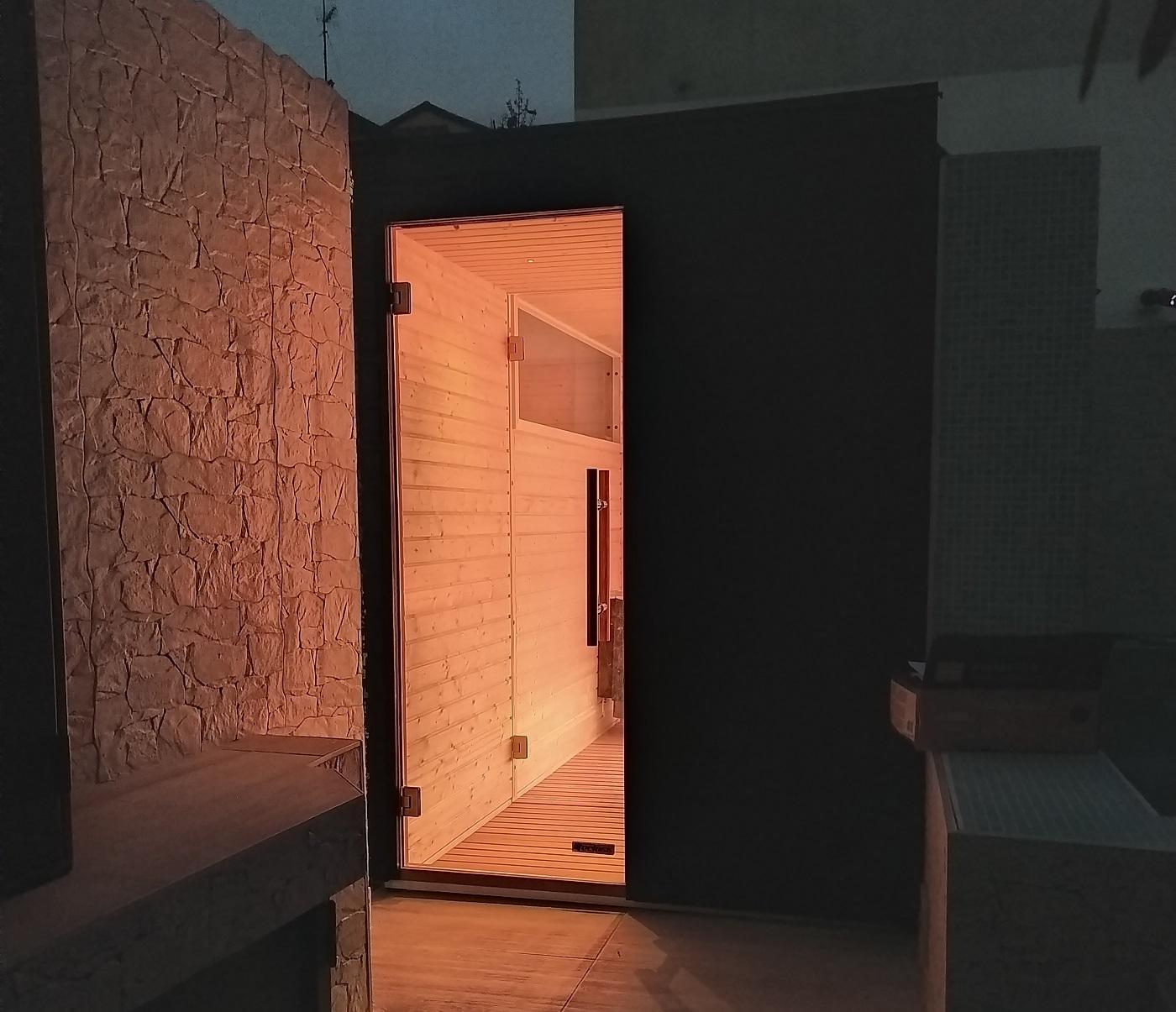 vista ingresso sauna