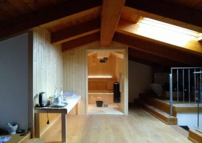 sauna mansarda