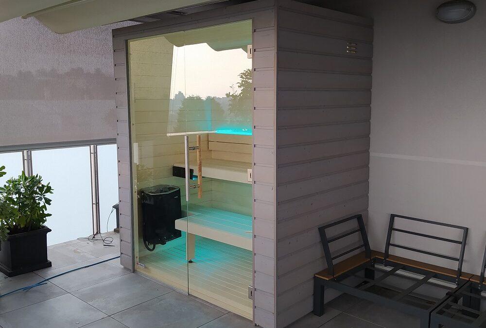 Sauna con funzione vapore per terrazzo