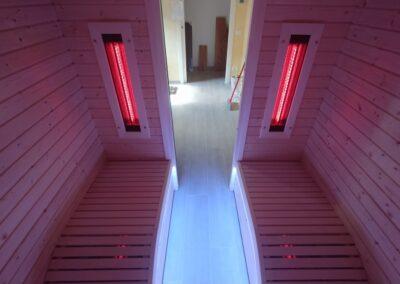 sauna ad infrarossi lettini ergonomici